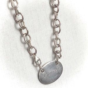 Vintage Tiffany Silver Chain Link Necklace Lauren